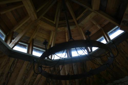 Taket inifrån lusthuset