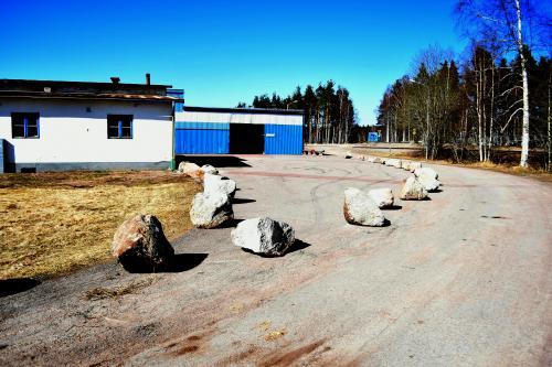 Parkeringen vid före detta Libra i Vansbro
